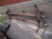TWO 3500 LBS AXLES WITH BRAKES now $500 ROLAND 613 407-9500