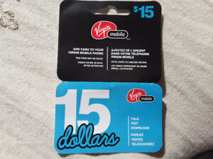 Virgin mobile $15 prepaid phone card