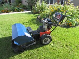 """Ariens 936PB, 9HP with 36"""" Commercial Sweeper Power brush Video"""