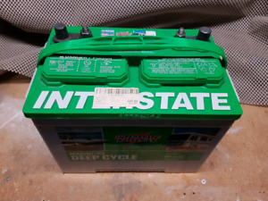 Interstate Marine/RV Deep Cycle Battery and box