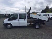 LOW MILES ford transit tipper crew cab