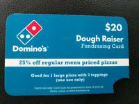 Domino pizza fundraiser