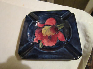 Orchid Flower - Moorcroft Pottery - Made in England - Ashtray
