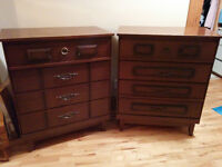 His & Hers Vintage Tall Boy Dressers - Delivery