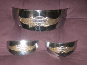 HD head lamp and passing lamp visors GOLD EMBOSSED EAGLE