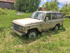 1988 Toyota FJ62 Land Cruiser for parts or parting out