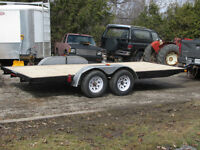 Car carrier, Quad trailer, complete reconditioned flatbed