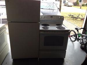 GE fridge AND GE Easy Clean stove