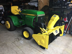 John Deere tractor with snowblower