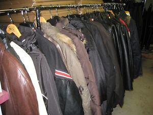 garage sales sporting goods - clothing - leather jackets