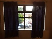 2 sets of quality blue curtains