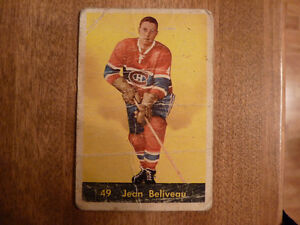 Carte de hockey Jean Béliveau