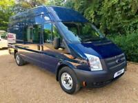 2013 13 FORD TRANSIT T350 TDCI 155PS JUMBO * FACTORY CREW VAN * AIR CON * DIESE