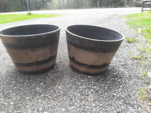 LARGE BARREL PLANTER