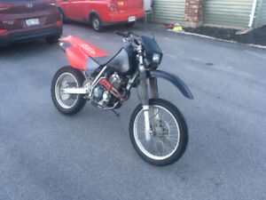 Street Legal 1996 Honda XR400R with Supermoto Conversion