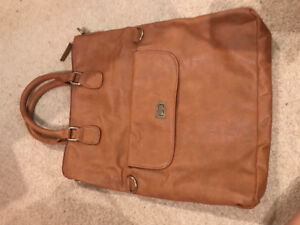 Pure Alfred Sung Brown leather purse