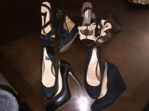 Size 10 Lightly used and new women high heels and wedges