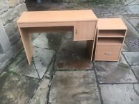 Light Office Desk with Matching Filing Cabinet - CAN DELIVER