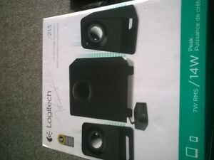 Brand new Logitech speakers and sub