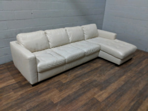 Italsofa real leather white sectional sofa. FREE DELIVERY​