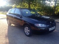 NiSSAN ALMERA 1.5 SE 2005. 1 YEARS MOT. AIR CON LOW MILES. FULL HISTORY.