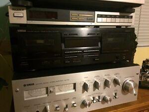 Lecteur cassette tape deck yamaha double kx-w321