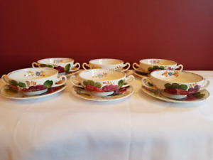 6 Belle Fiore Soup Sets