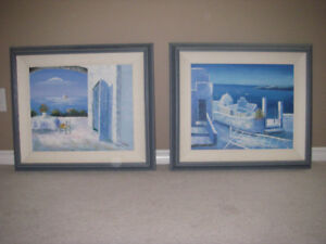 Original Greek Oil Canvas Paintings.Brought back from Greece.