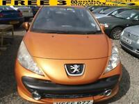 2007 PEUGEOT 207 1.4 16V Sport NICE ORANGE COLOUR