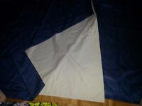 rideaux bleus foncés doublés - garde chaleur ou fraicheur