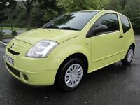 07/07 CITROEN C2 1.1 AIRPLAY + 3DR HATCH IN YELLOW WITH ONLY 69,000 MILES