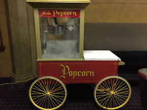 "POPCORN MACHINE AND CART ""WHIZ BANG GAY 90's"" by Gold Metal"