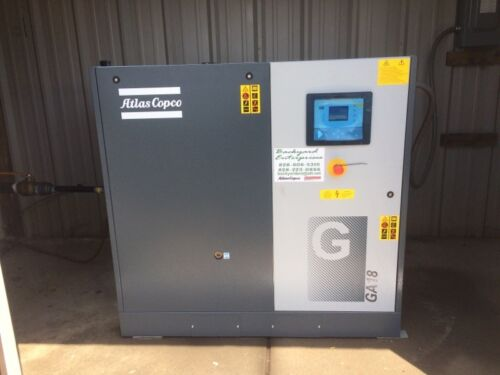 25 hp Atlas Copco GA18 rotary screw air compressor