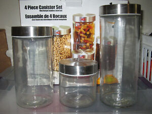 THREE PIECE CANISTER SET
