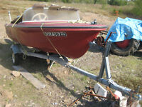 14 Foot 1987 Anchor Speedboat, 40hp Motor and Trailer.