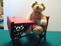 Teddy bear and old fashioned desk