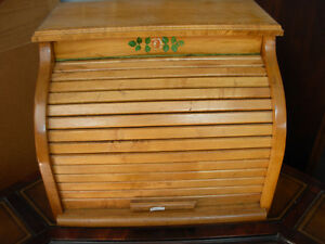 Vintage Roll-Top Bread Box