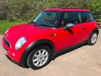 MINI ONE IN RED PANORAMIC ELECTRIC ROOF 1 PREVIOUS OWNER RED & BLACK INTERIOR