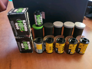 35mm film B&W and Colour 8 rolls for $50