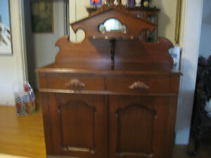 NEW PRICE-Antique Walnut Victorian Sideboard/Buffet