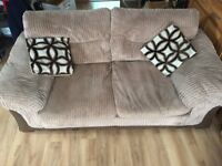 3 seater / 2 seater sofas and storage footstool