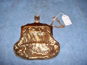 1930's Gold metal mesh Bag Whiting & Davis USA  2783