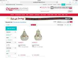 Chanteuse Glass Chandelier (BRAND NEW) *GREAT PRICE* North Shore Greater Vancouver Area image 4