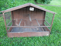 Antique Primitive Bird Cage - made from Advertising Box Laxative