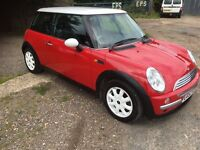 A lovely red Mini Cooper