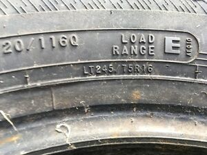 Good Used LT 245/75 R16 tire for SALE