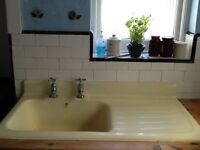 1950s cast iron sink