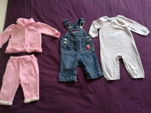 9-12 month baby girl clothes, Outwears, Denim Bib Overalls