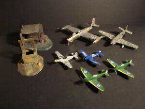 Lot of Diorama Items, Built Model Planes and Diecast Planes