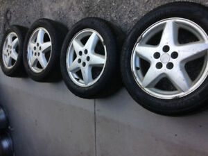 4/  CHEVROLET ALUMINUM RIMS & ALL SEASON TIRES